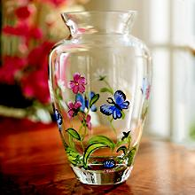 Lenox :: Butterflies & Blossoms Glass Vase