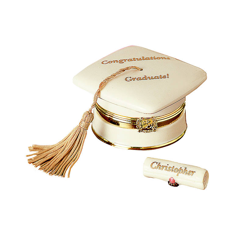 Ivory China Personalized Graduation Wishes Treasure Box by Lenox, Gifts by Occasion Graduation by Lenox