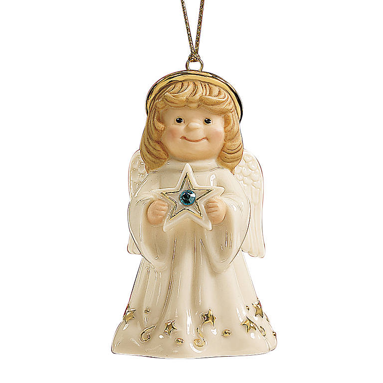 Ivory China My Birthstone Angel Ornament by Lenox, Miniatures and Figurines Angels by Lenox