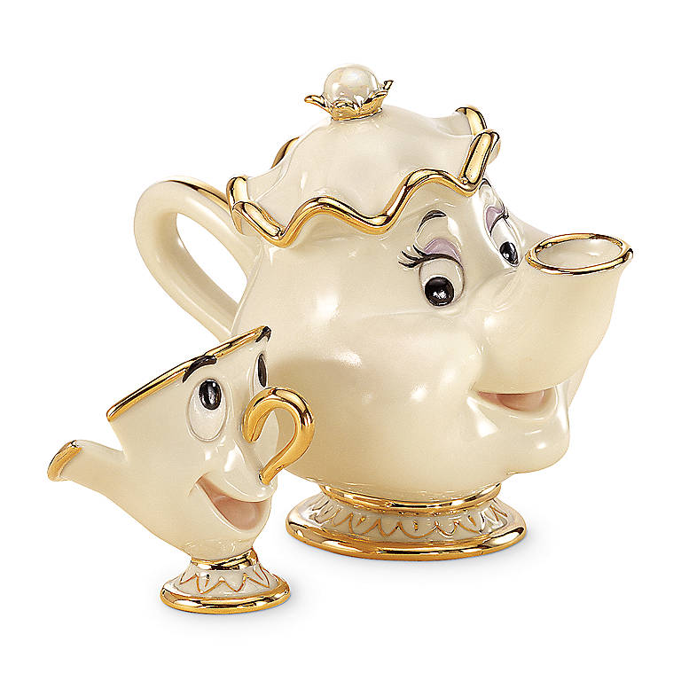 Ivory China Classic Mrs. Potts & Chip Sculptures by Lenox, Sculpture by Lenox