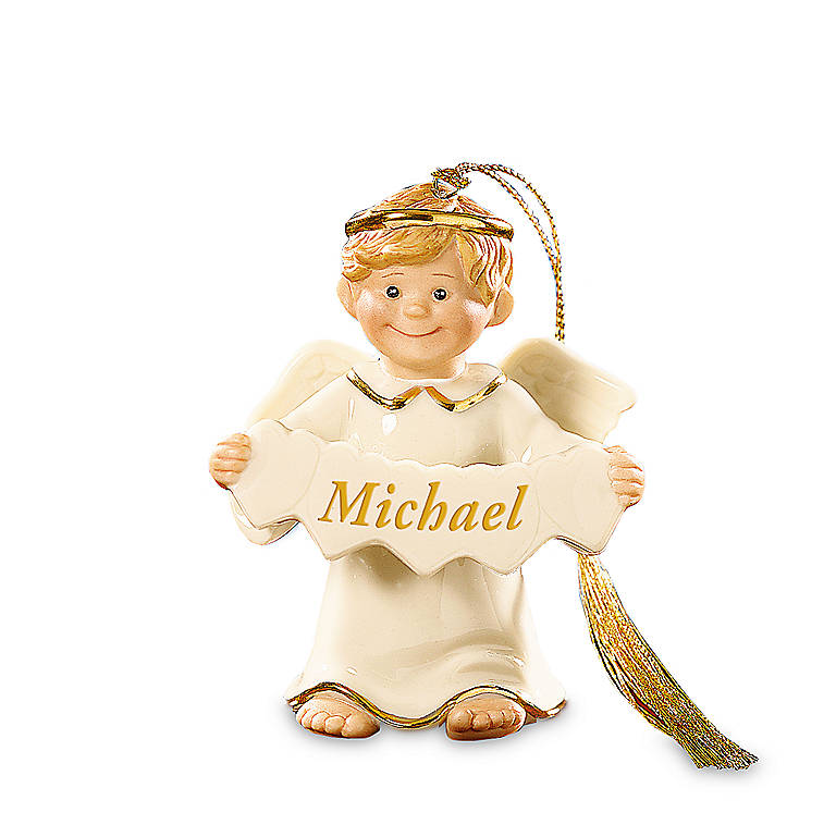 Ivory China Lenox An Angel All My Own Personalized (Boy) Ornament, Miniatures and Figurines Angels by Lenox
