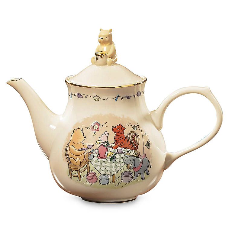 Ivory China Lenox Pooh's Party Teapot, Dinnerware Serving Pieces Teapots by Lenox