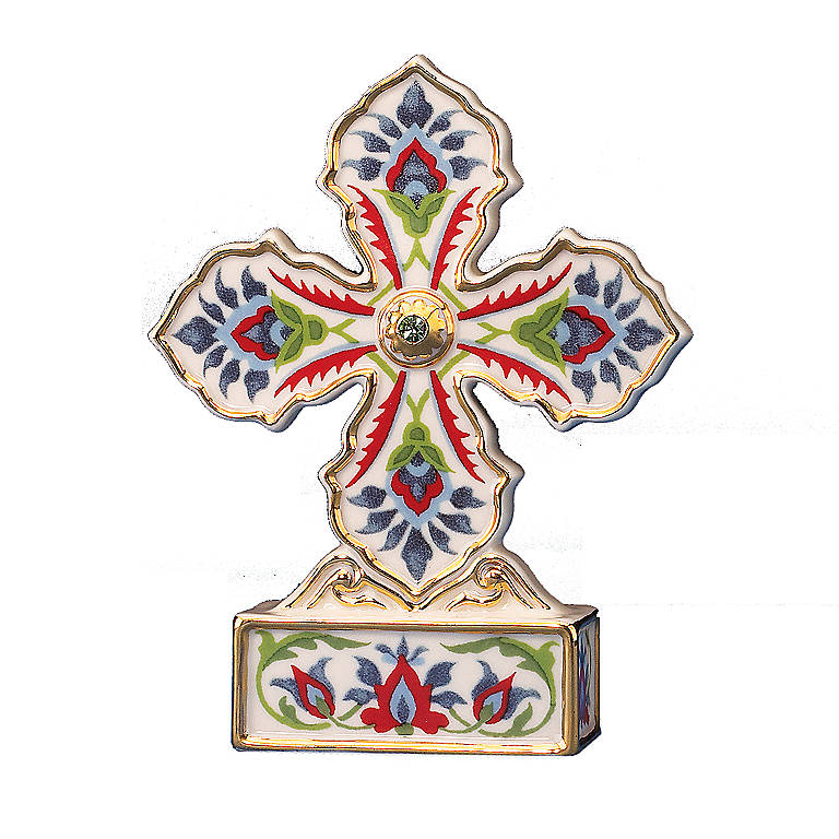Ivory China Persian Cross Sculpture by Lenox, Sculpture by Lenox