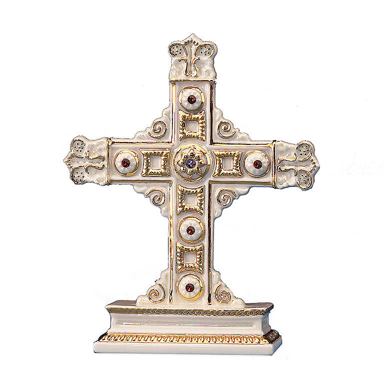 Ivory China Cross Sculpture by Lenox, Sculpture by Lenox
