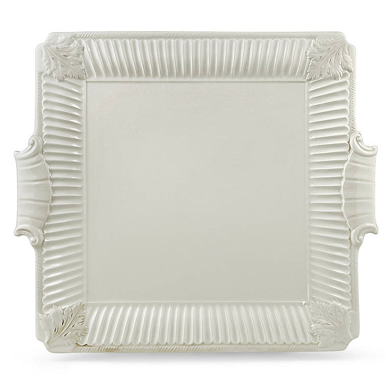 Earthenware Butler's Pantry Square Cake Plate by Lenox, Dinnerware Serving Pieces Cake Plates by Lenox