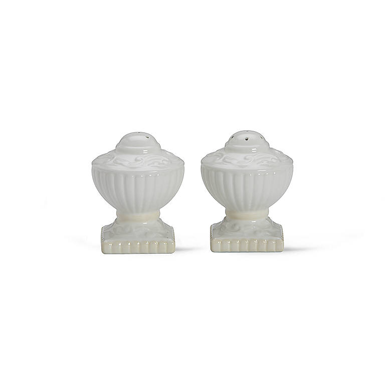 Earthenware Lenox Butler's Pantry Salt and Pepper Shakers, Dinnerware Serving Pieces Salt and Pepper Shakers by Lenox