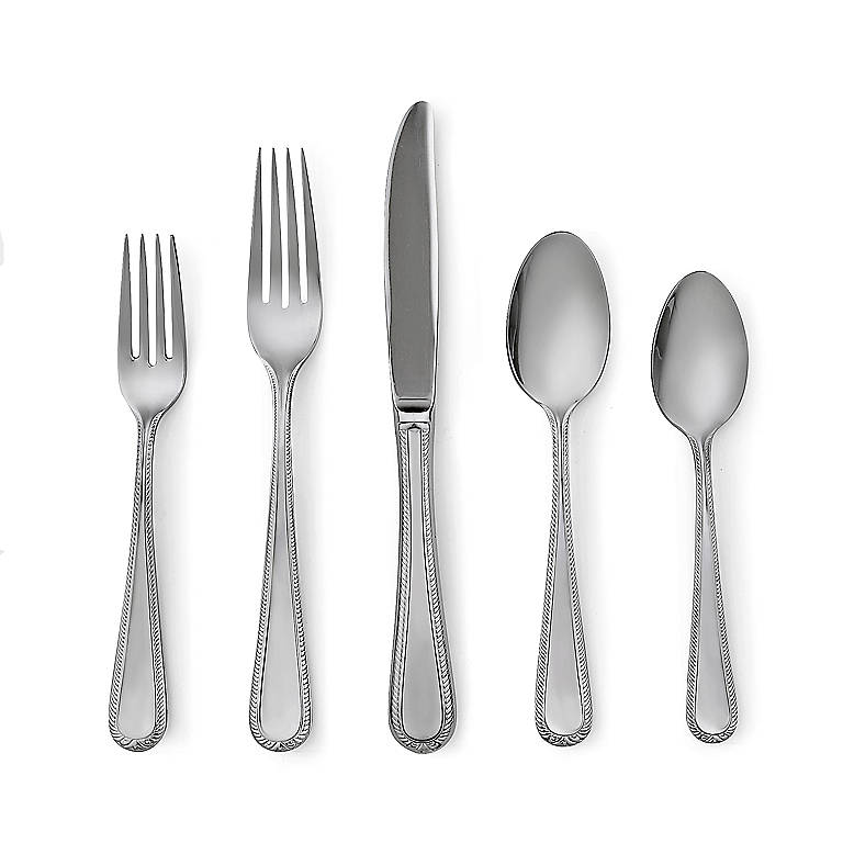 Stainless Steel Swedish Lodge 5-piece Stainless Place Setting by Lenox, Dinnerware Tableware Flatware by Lenox