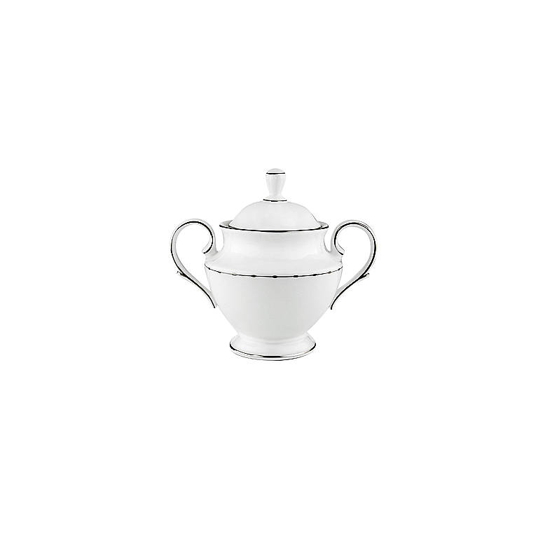 Bone China Lenox Grand Central Sugar Bowl with Lid, Dinnerware Serving Pieces by Lenox