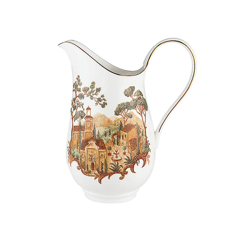 Bone China Lenox Mosaico D'Italia Large Pitcher, Dinnerware Serving Pieces by Lenox