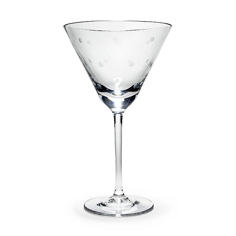 Crystal kate spade Larabee Dot Martini Glass, Dinnerware Tableware Glasses and Mugs by Lenox
