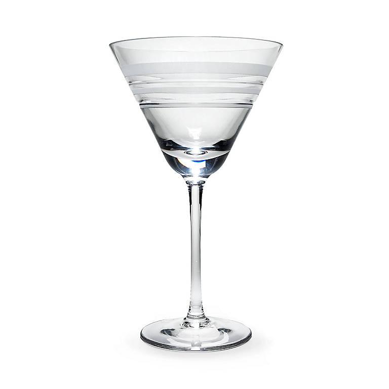 Crystal kate spade Library Stripe Martini Glass, Dinnerware Tableware Glasses and Mugs by Lenox