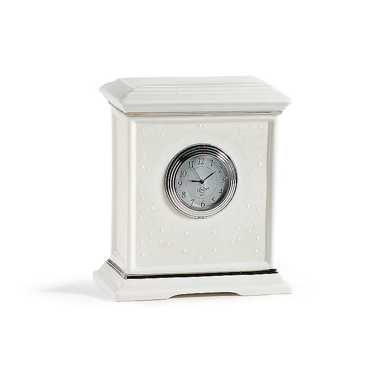 Porcelain Lenox Opal Innocence Medium Clock, Home Decorating Clocks by Lenox