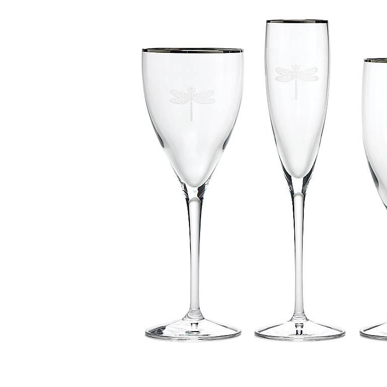 Crystal kate spade June Lane Goblet, Dinnerware Tableware Glasses and Mugs by Lenox