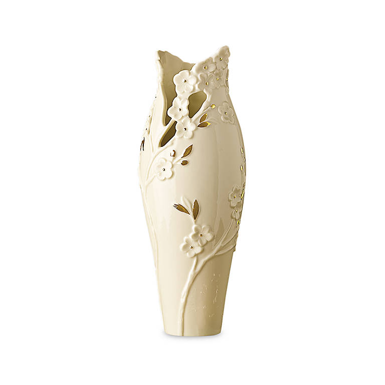 Ivory China Lenox Cherry Blossom Bud Vase, Gifts by Occasion Mother's Day by Lenox