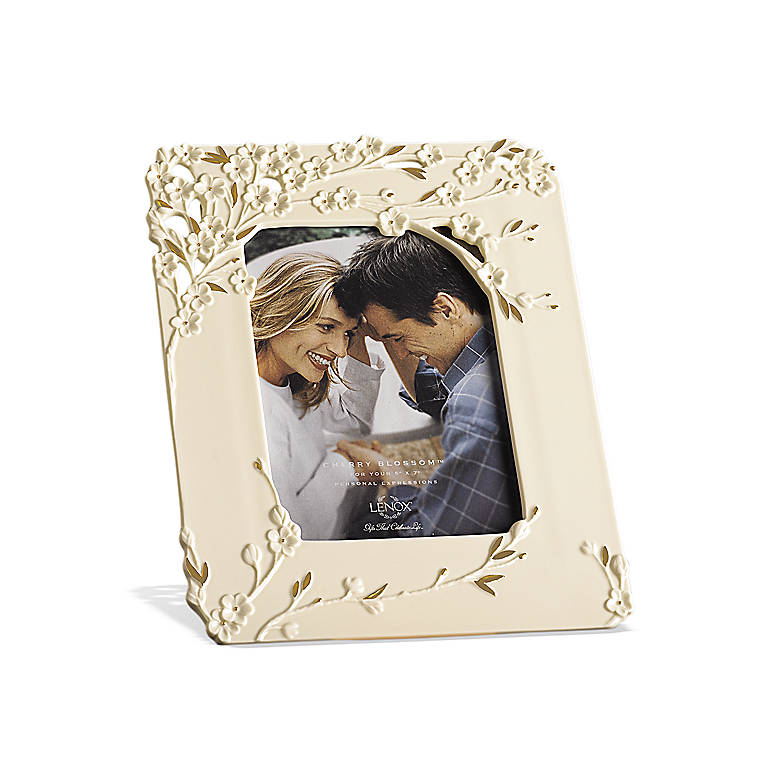 Ivory China Cherry Blossom 5x7 Frame by Lenox, Home Decorating Picture Frames by Lenox