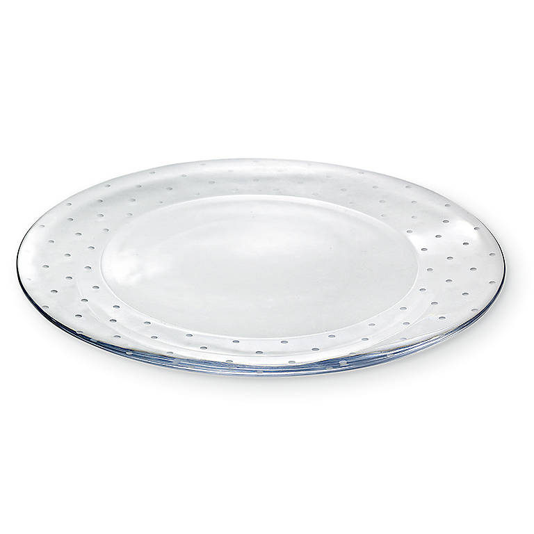 Crystal kate spade Larabee Dot Crystal Cake Plate, Dinnerware Serving Pieces Cake Plates by Lenox