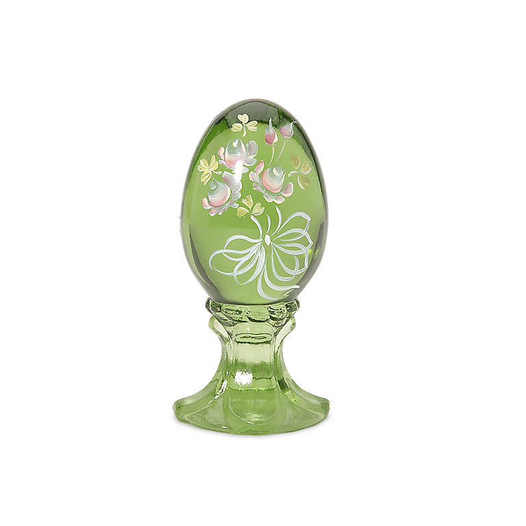 Colored Glass Fenton Wild Irish Rose Glass Egg, Gifts by Occasion by Lenox