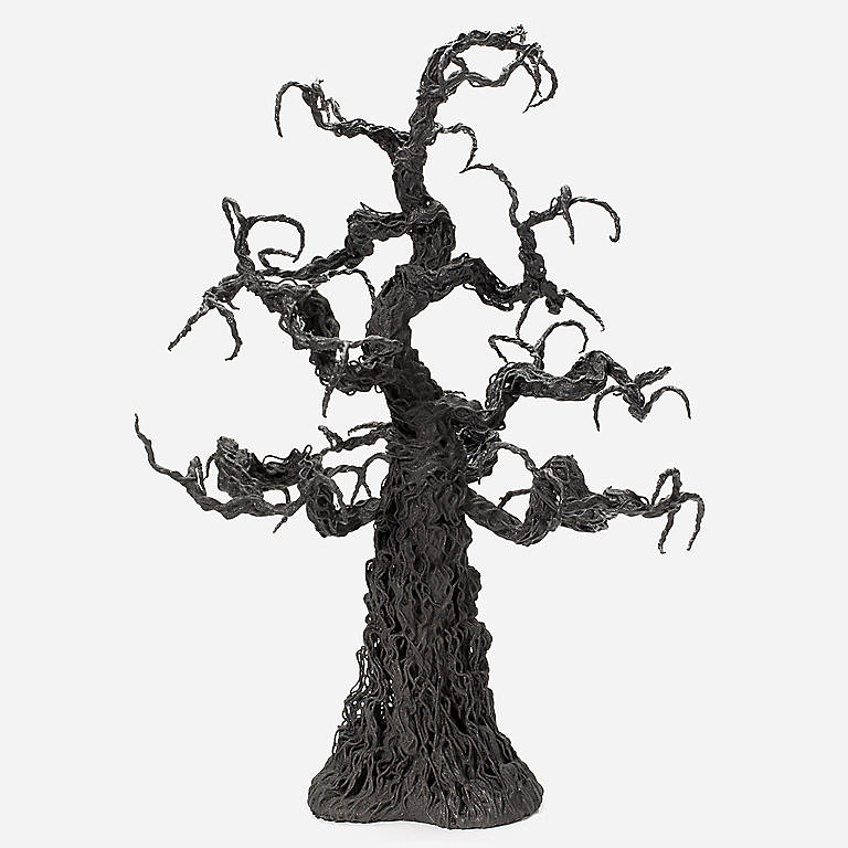 Department 56 Black Bare-branch Tree, Sculpture by Lenox