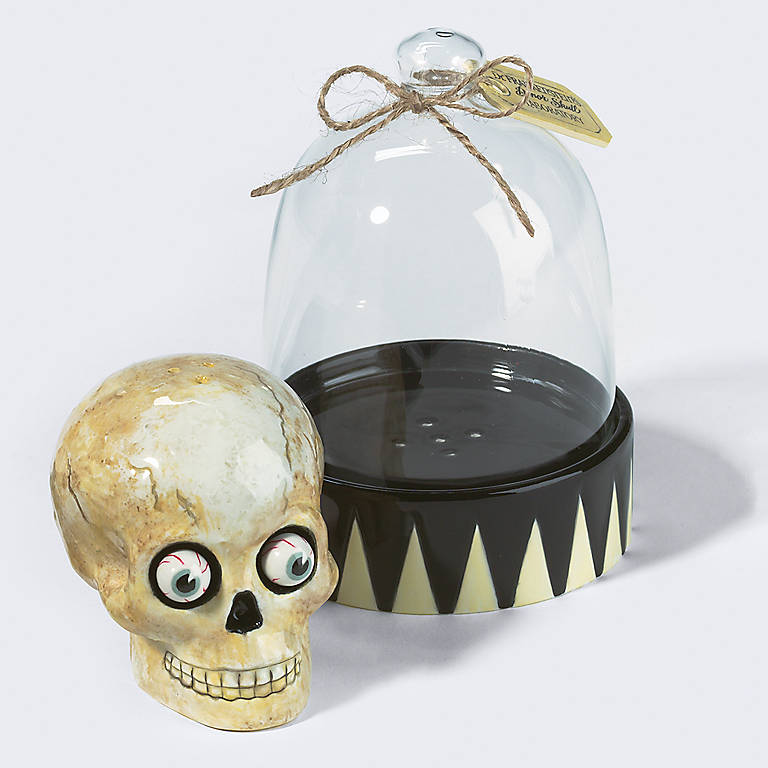 Ceramic Department 56 Skull Apothecary Salt & Pepper Set, Dinnerware Serving Pieces Salt and Pepper Shakers by Lenox