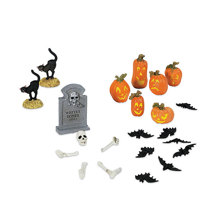 The Original Snow Village Halloween Yard Decorations, Set of 22, Gifts by Occasion Halloween by Lenox