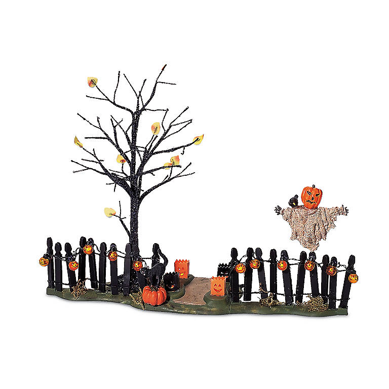 Resin Spooky Yard Scene Lighted Sculpture, Gifts by Occasion Halloween by Lenox