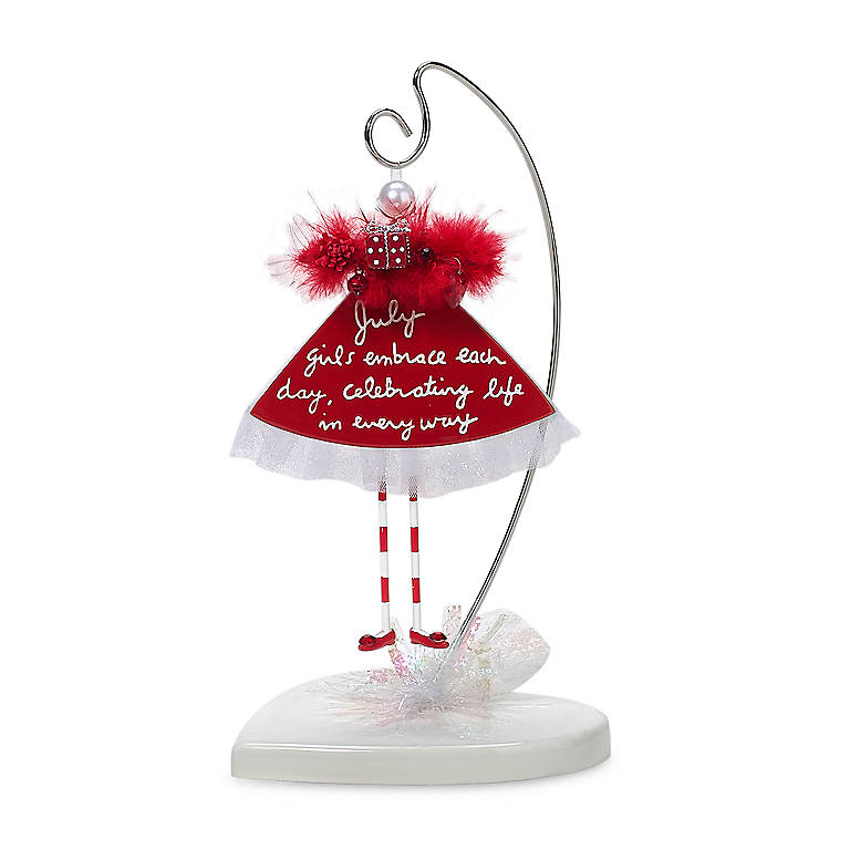 Ceramic Calendar Gal Ornament - July, Home Decorating by Lenox