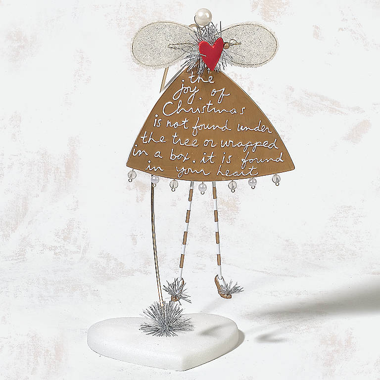 Ceramic Department 56 Sandra Magsamen Heart of the Holidays Angel Ornament, Large, Miniatures and Figurines Angels by Lenox