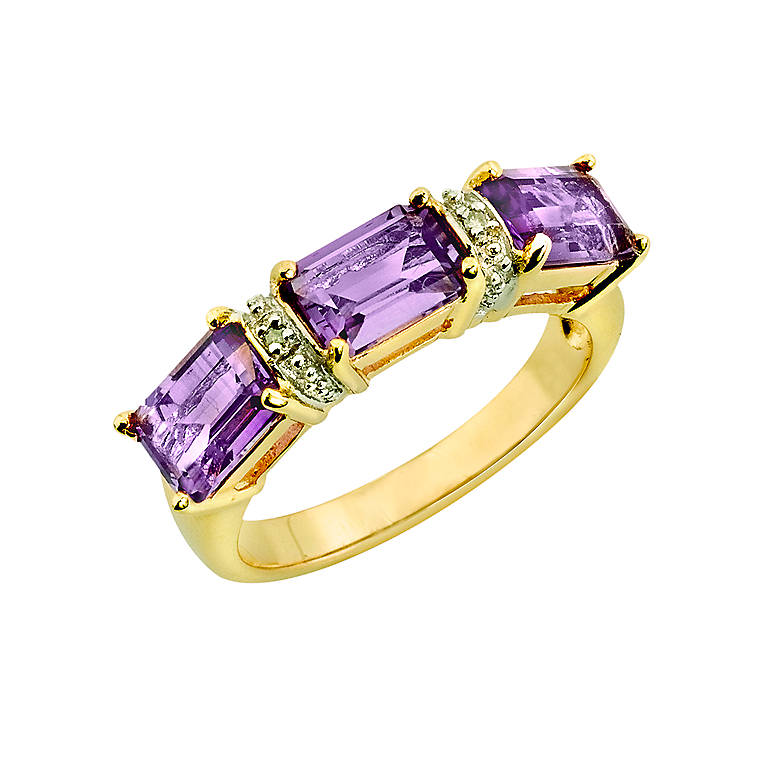 Sterling Silver Amethyst Band of Elegance Ring by Lenox, Costume Jewelry by Lenox