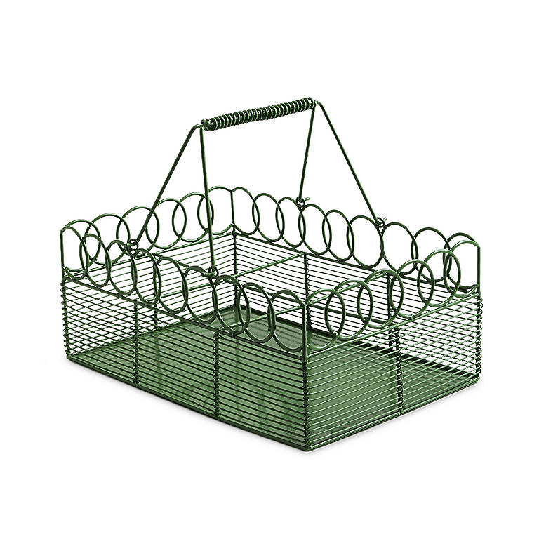 Metal Green Wire Caddy, Home Decorating by Lenox