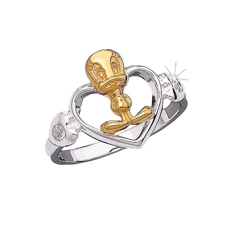 Lenox TWEETY Heart Ring, Costume Jewelry by Lenox