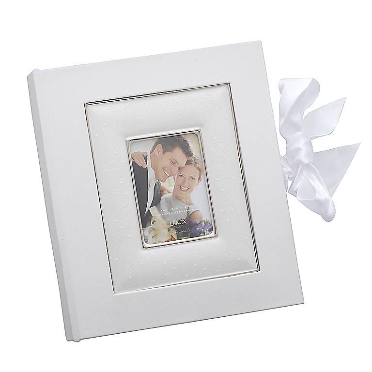 Bone China Lenox Opal Innocence 4x6 Album, Home Decorating Picture Frames by Lenox