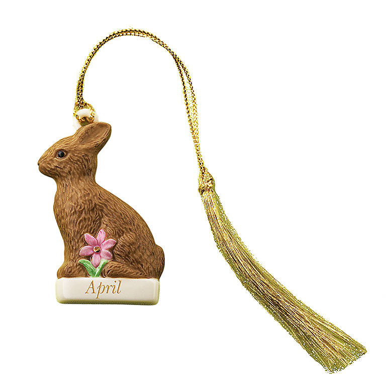 Ivory China Personalized Bunny Charm Ornament by Lenox, Gifts by Occasion Easter by Lenox