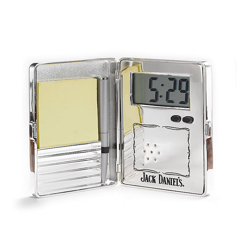 Metal Jack Daniel's Old No. 7 Travel Alarm Clock, Home Decorating Clocks by Lenox