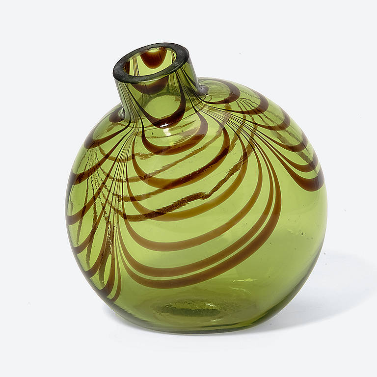 Glass Department 56 Round Scallop Vase, Small, Home Decorating Vases by Lenox
