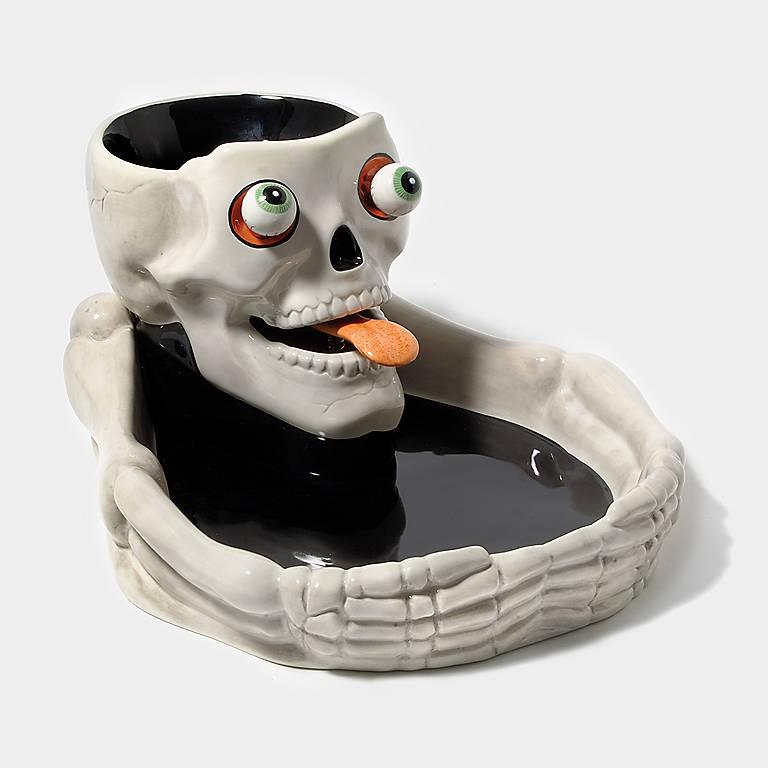 Ceramic Department 56 Skull Chip 'n' Dip Set, Dinnerware Serving Pieces Chip 'n' Dip by Lenox