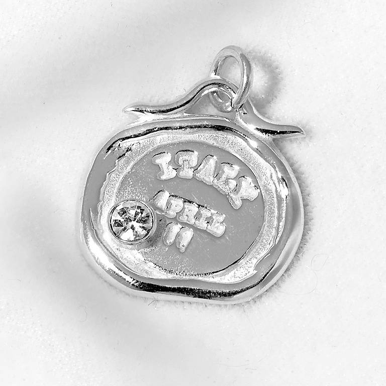 Sterling Silver Tickle Passport Bracelet Charm - Italy, Costume Jewelry by Lenox