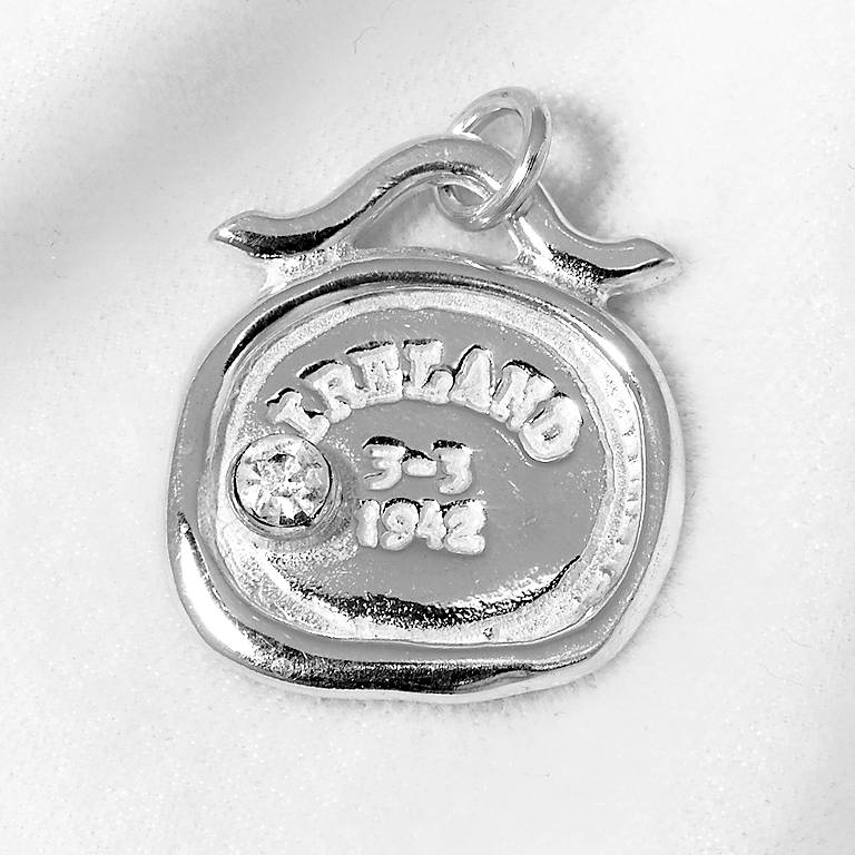 Sterling Silver Tickle Passport Bracelet Charm - Ireland, Costume Jewelry by Lenox