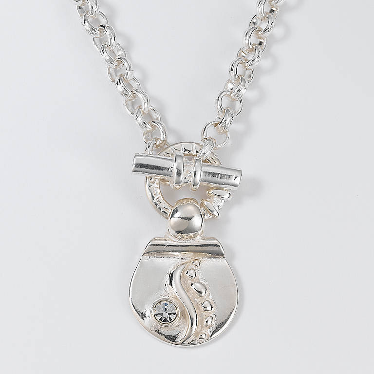 Sterling Silver Department 56 Serenity Pendant Necklace, Costume Jewelry by Lenox