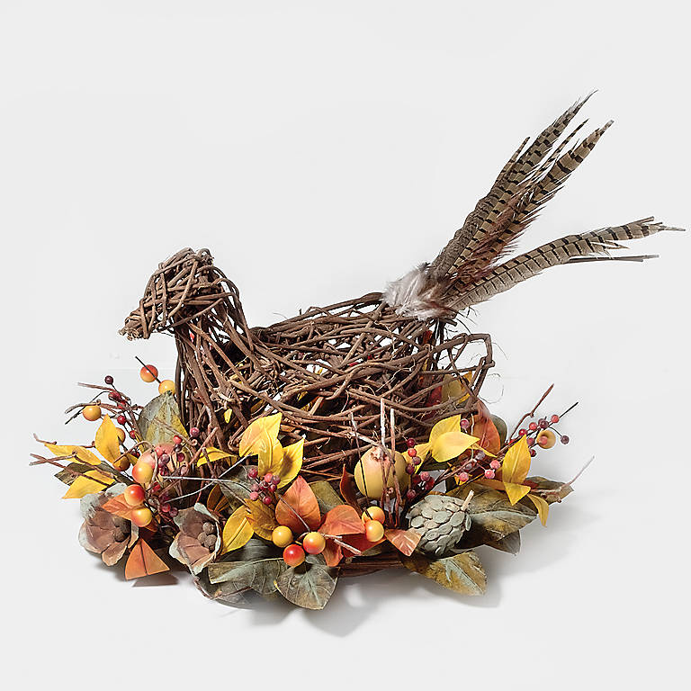 Wood Department 56 Twig Pheasant Centerpiece, Miniatures and Figurines Animals by Lenox