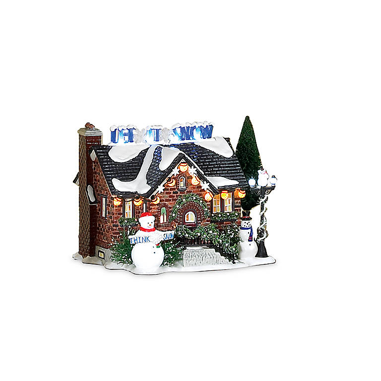 Ceramic Department 56 The Snowman House Lighted Sculpture, Sculpture by Lenox