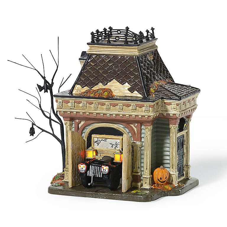 Ceramic Grimsly's Garage Lighted Sculpture, Gifts by Occasion Halloween by Lenox