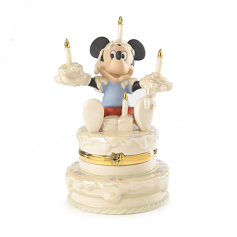 Ivory China Mickey's Birthday Surprise Treasure Box by Lenox, Gifts by Occasion Birthday by Lenox
