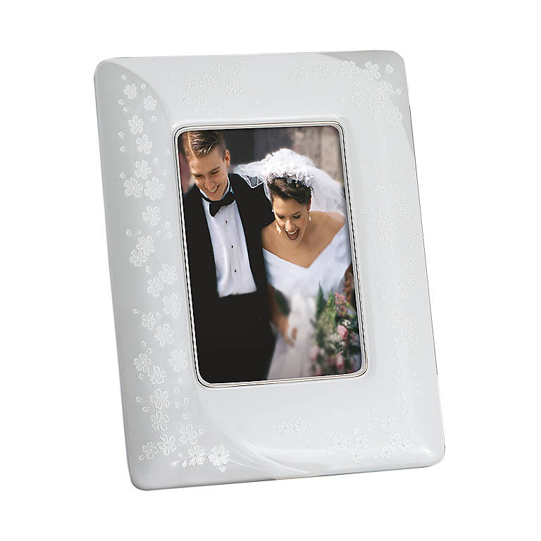 Porcelain Bellina 5x7 Frame by Lenox, Home Decorating Picture Frames by Lenox