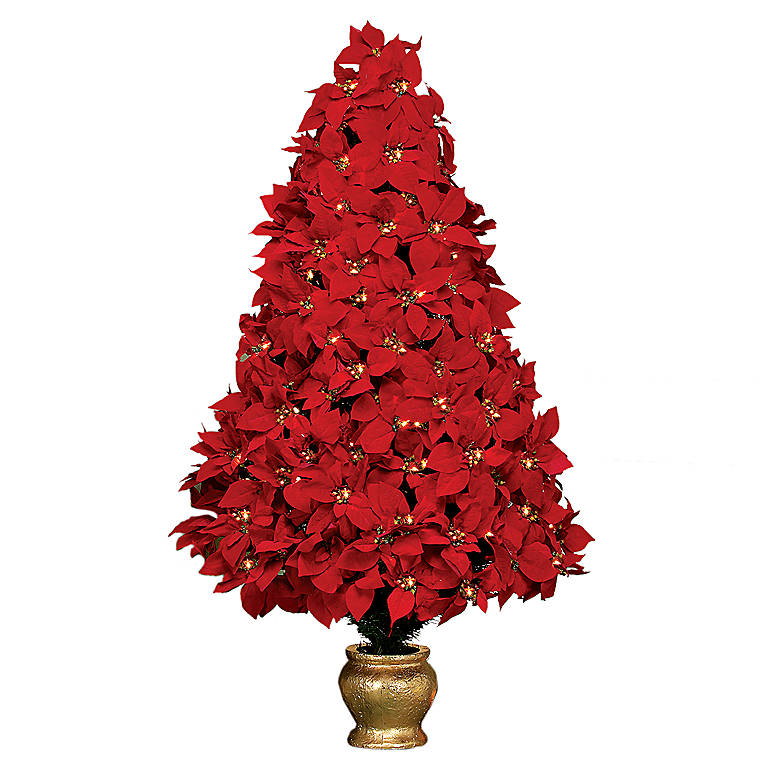 Resin Poinsettia Tree, Gifts by Occasion Christmas by Lenox