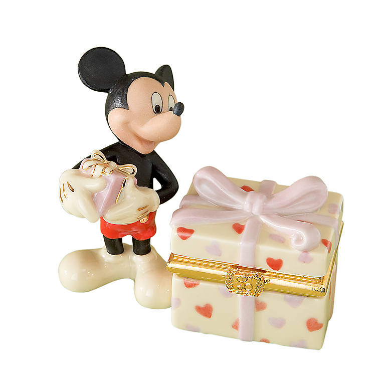 Ivory China Mickey's Heartfelt Treasure Box by Lenox, Gifts by Occasion St. Valentine's Day by Lenox