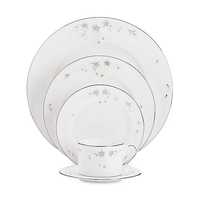 Bone China Sheer Bliss 5-piece Place Setting by Lenox, Dinnerware Tableware Dishes and China by Lenox