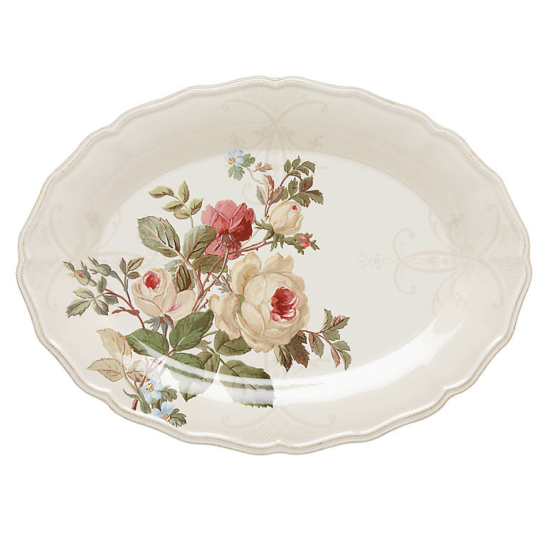 Ironstone Accoutrements Large Oval Tray, Dinnerware Serving Pieces by Lenox