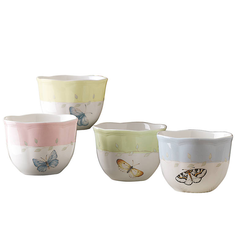 Porcelain Lenox Butterfly Meadow Votives, Set of 4, Home Decorating Candles by Lenox