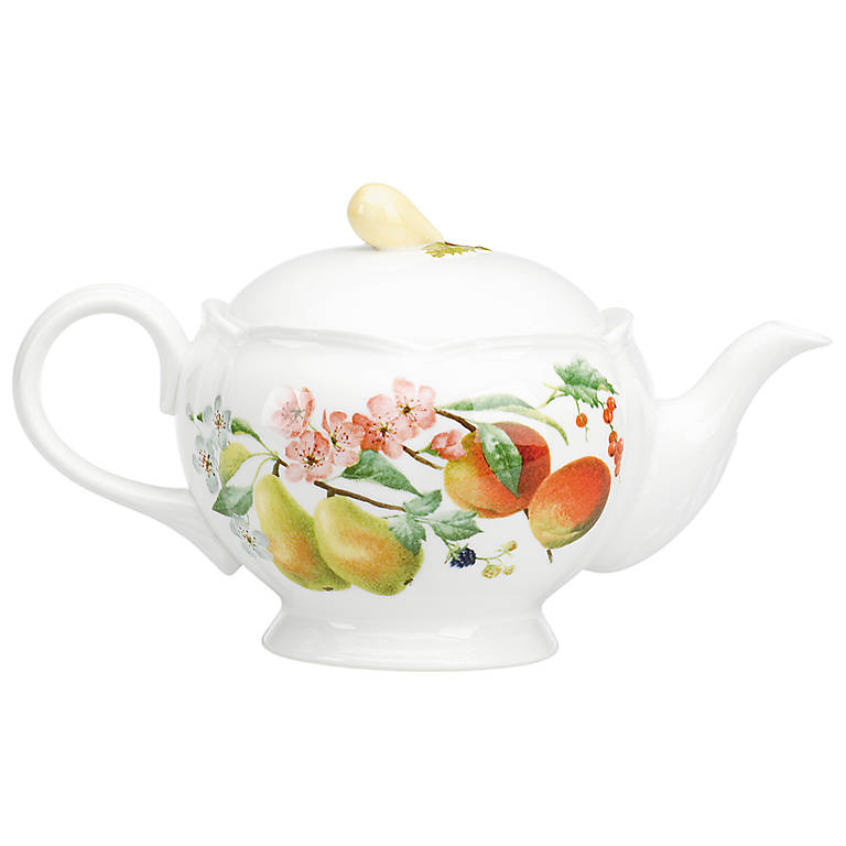 Porcelain Orchard in Bloom Teapot by Lenox, Dinnerware Serving Pieces Teapots by Lenox