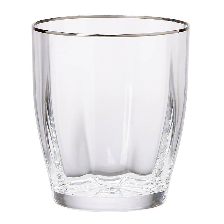 Crystal Andante Platinum Double Old Fashioned Glass by Gorham, Dinnerware Tableware Barware by Lenox